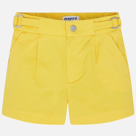Mayoral Yellow Satin Shorts 3273