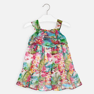 Mayoral Tropical Bambula Dress 3955