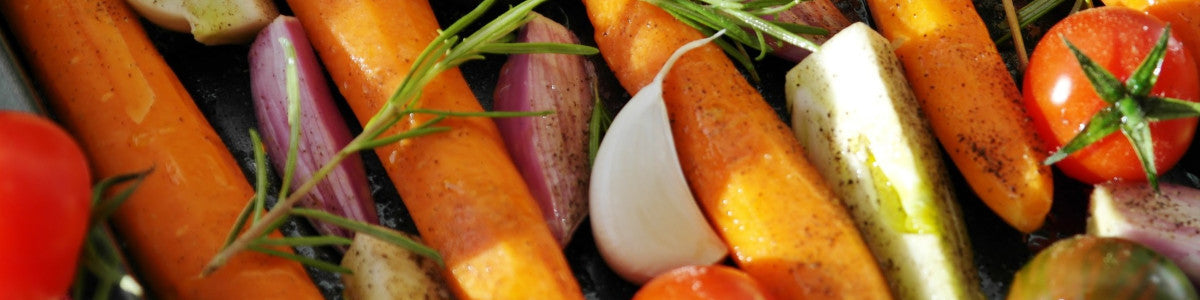 Roasted vegetables from the garden