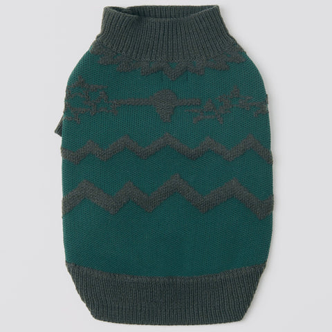 Textured Zig Zag Jumper (Green)