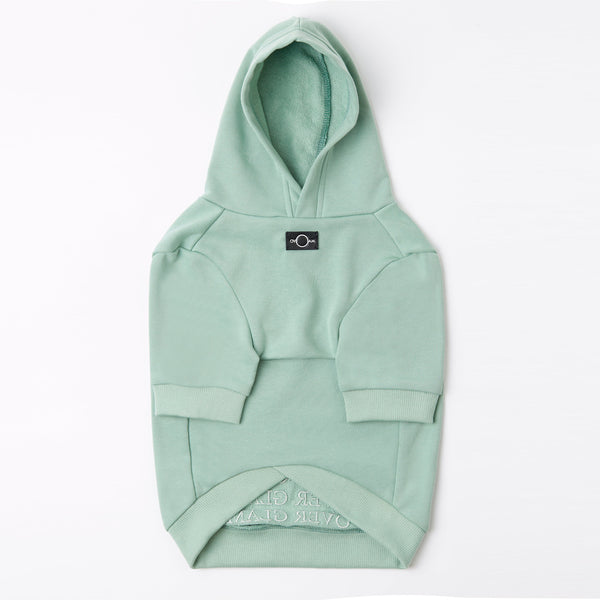 Hoodie with Overglam Embroidered (Mint Green)