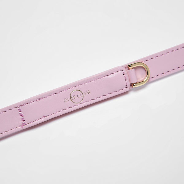 Smooth Leather Lead(Pink)