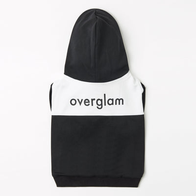Contrast Hoodie with Overglam Print - OVERGLAM LONDON