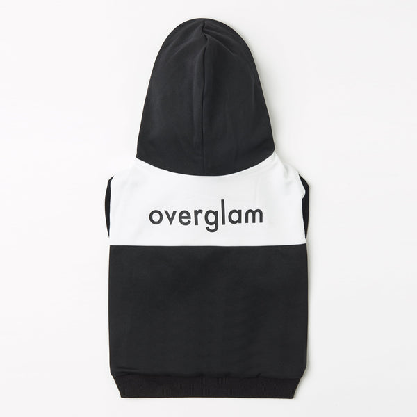 Contrast Hoodie with Overglam Print