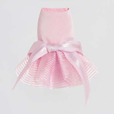 Bowknot Dress with Pleated Hem - OVERGLAM LONDON
