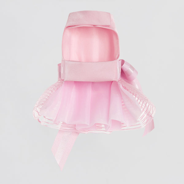 Bowknot Dress with Pleated Hem (Pink)