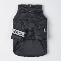 Button Up Puffer Jacket (Black)