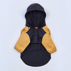 Contrast Thin Coat (Black & Yellow)
