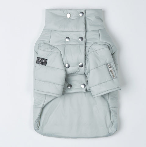Double Button Puffer Jacket (Mint)