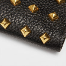 Golden Rivet Leather Pocket (Black)