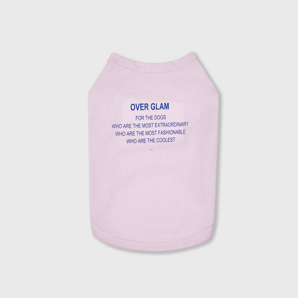 T-Shirt with Blue Text (Pink)
