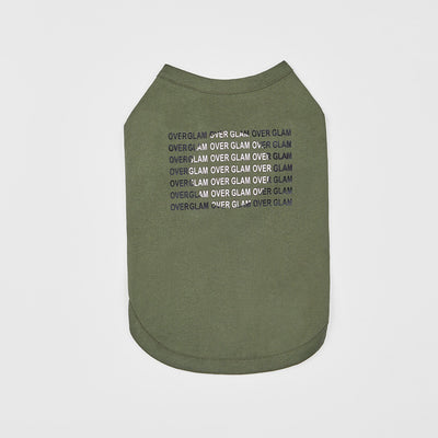 T-Shirt with Logo Pattern (Green) - OVERGLAM LONDON