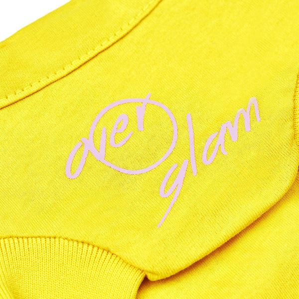 T-Shirt with Overglam Sign (Yellow)
