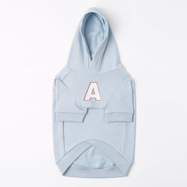 Hoodie with A Print (Blue)