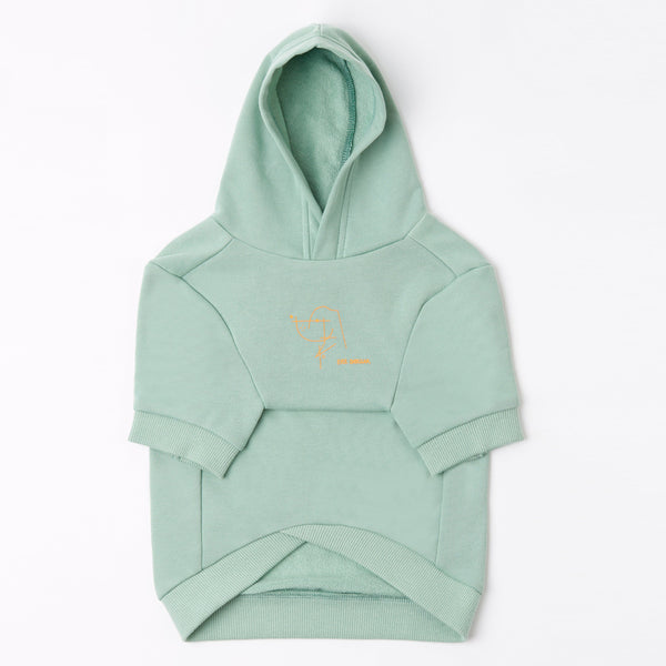 Hoodie with Stick Figure Print