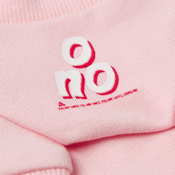 Sweatshirt with 'O NO' Print (Pink)