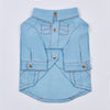 Top-Stitched Shirt (Blue)