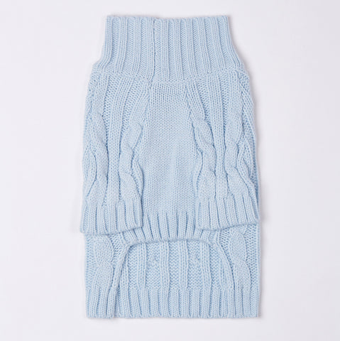 Turtleneck Knitwear (Blue)