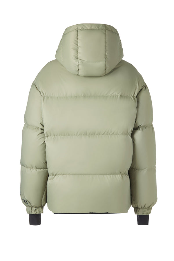 Human Zip Up Puffer Ski Jacket(Green)
