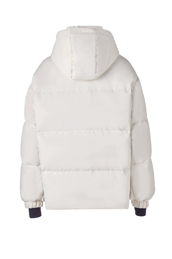Human Zip Up Puffer Ski Jacket(White)
