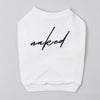 Sweatshirt with Embrodered Text (White)