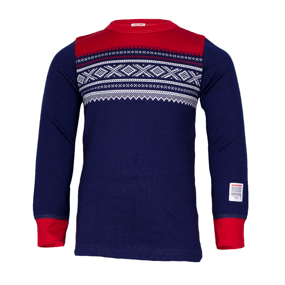 Wool base layer top Navy - Marius®