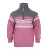Wool Sweater with Zip Mesa Rose - Marius®