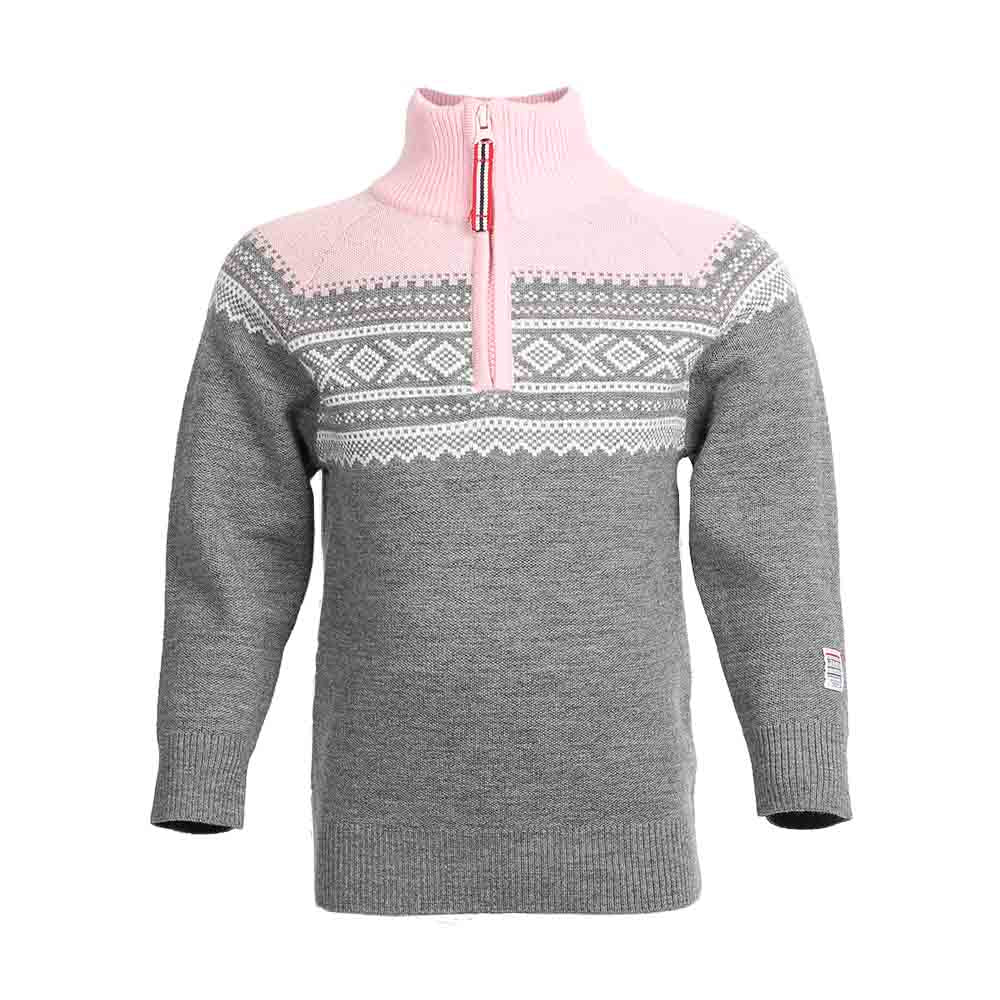 Wool Sweater with Zip Lotus Pink - Marius®