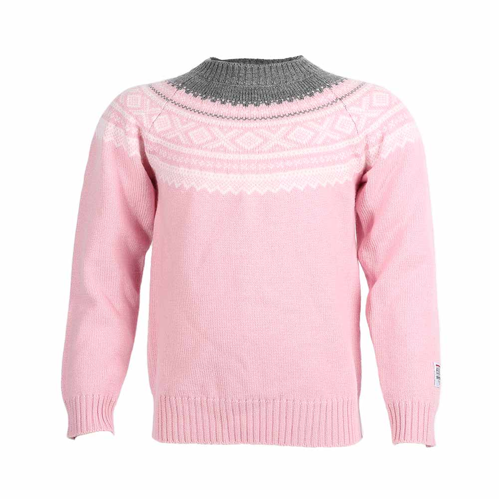 Wool Sweater Round knit Lotus Pink - Marius®