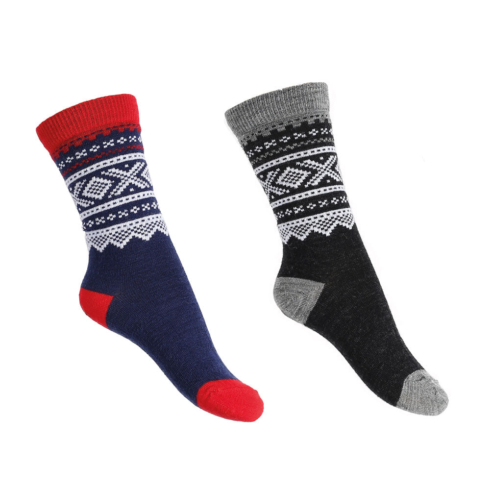Wool Socks 2-pk Navy/Grey Kids - Marius®