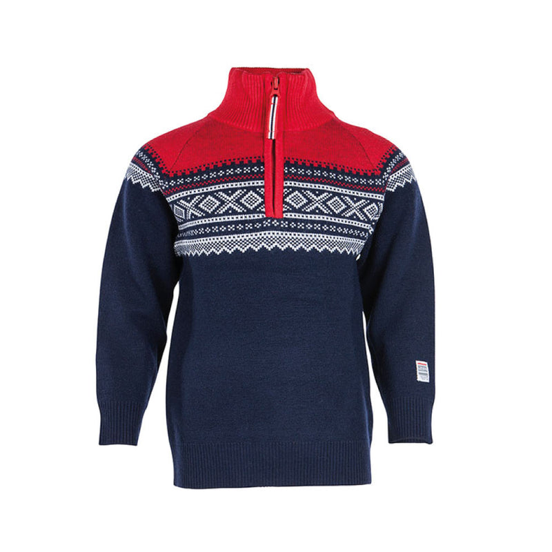 Wool Sweater with Zip Navy - Marius®
