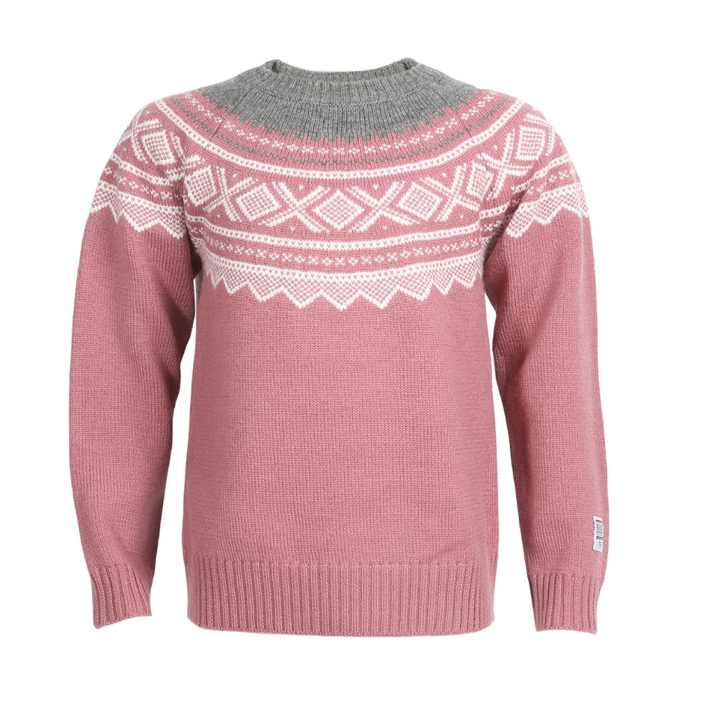 Wool Sweater Round Knit Mesa Rose  - Marius®