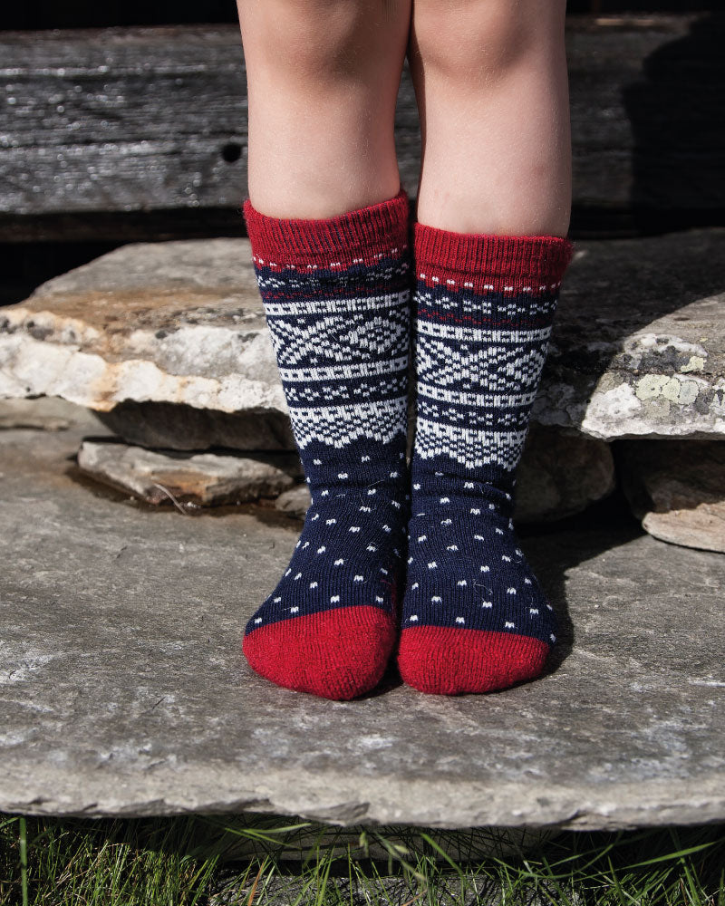 Wool Socks Kids Navy -Marius®