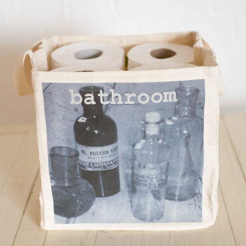 20 & 25cm Blue bathroom storage cube