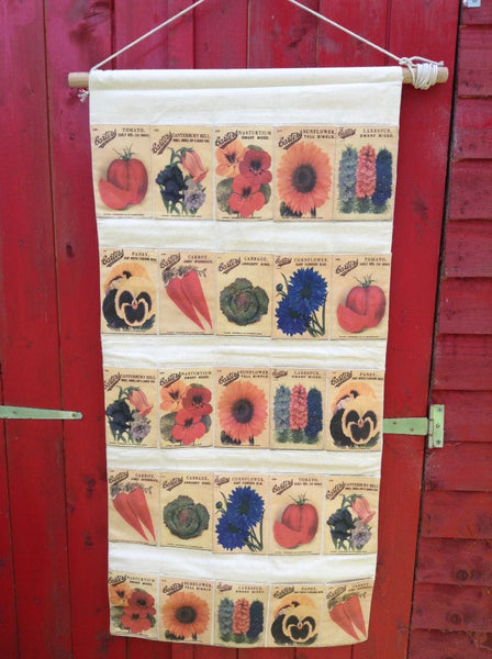 Seed packet wall tidy