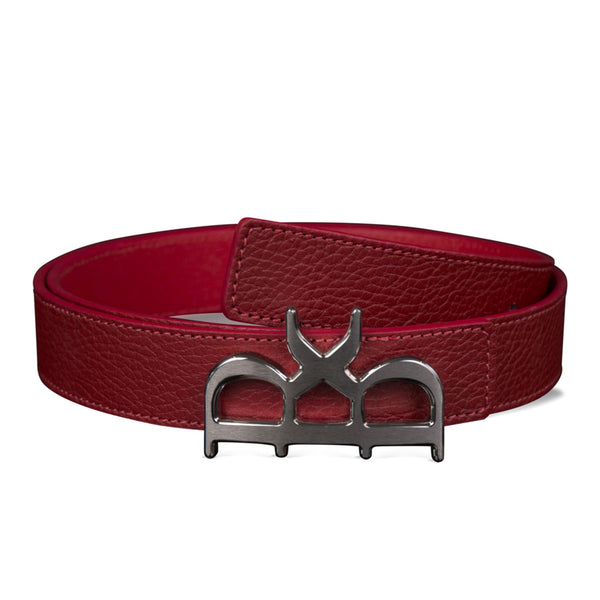 YVES BELT WOMEN ROUGE GUNMETAL