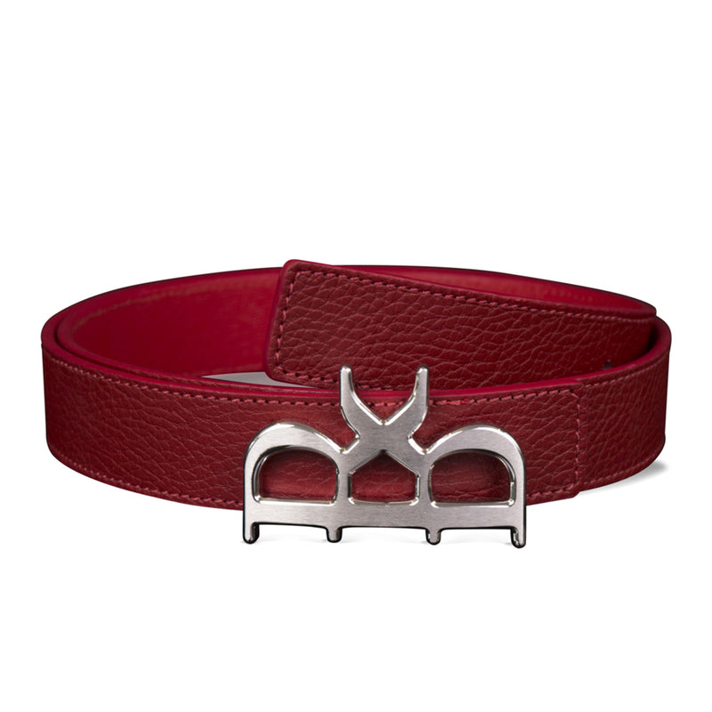YVES BELT WOMEN ROUGE SILVER
