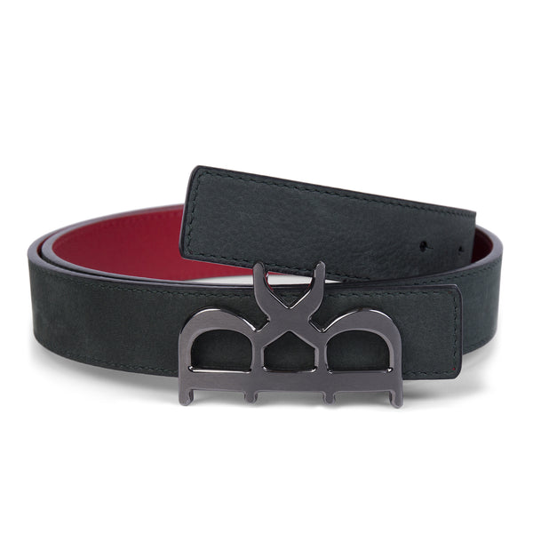 YVES BELT WOMEN SHADOW GREEN GUNMETAL