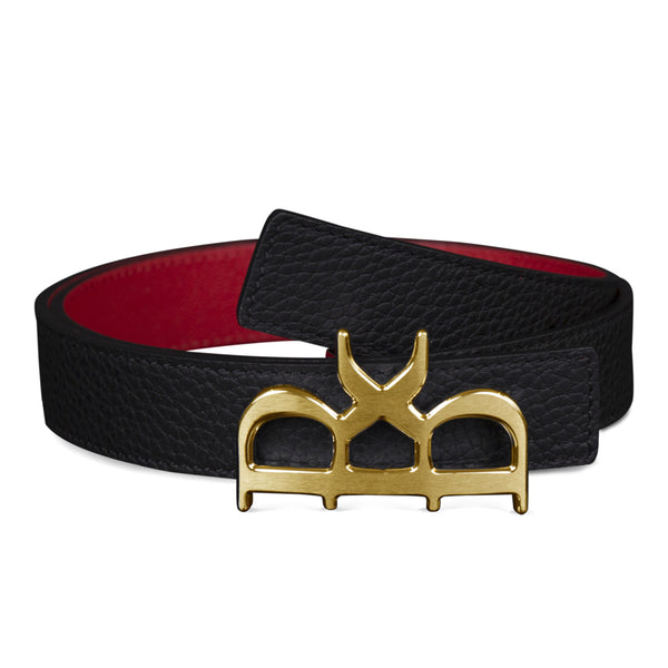 YVES BELT WOMEN BLACK GOLD