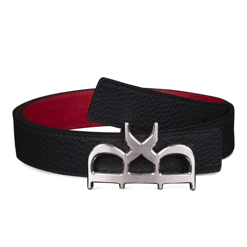 YVES BELT WOMEN BLACK SILVER