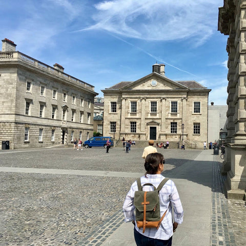 Waxed Canvas & Leather Daypack @ Trinity College