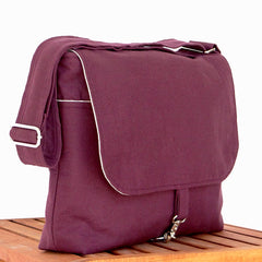 Purple Hemp Messenger Bag