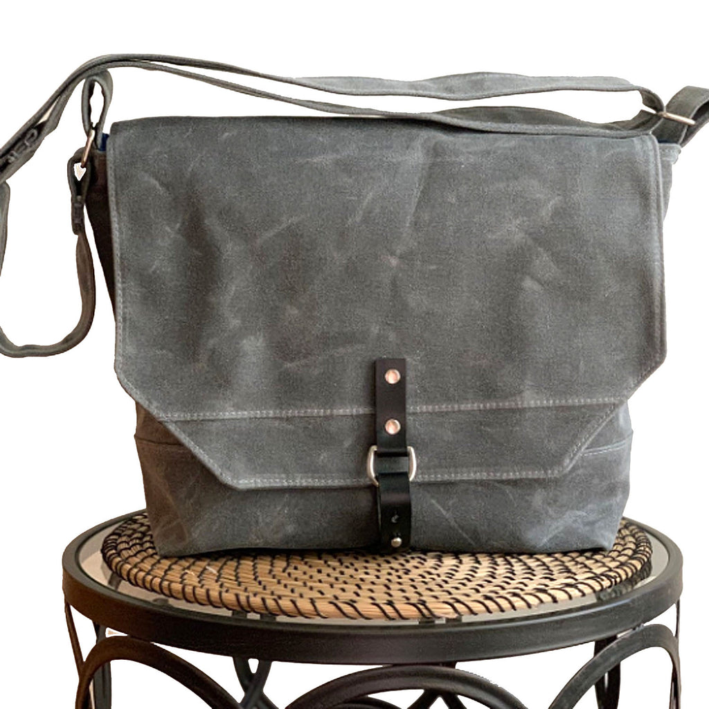 Sanford Waxed Canvas Messenger Bag, Laptop Bag - 1820 Bag Co.