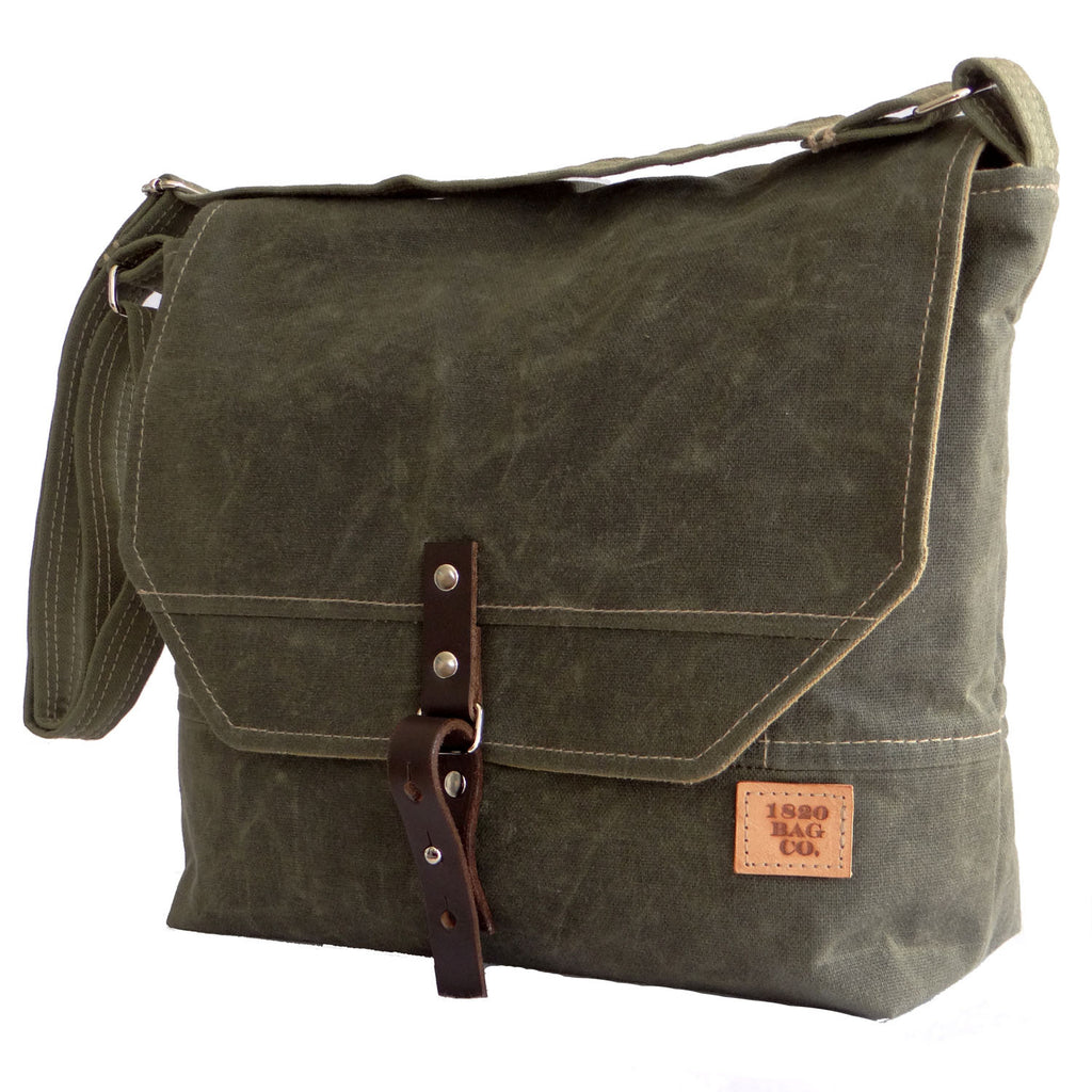 Englewood Waxed Canvas Mens Field Bag - 1820 Bag Co.