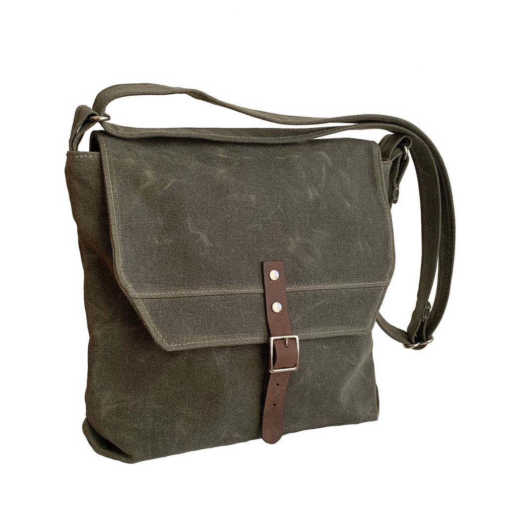 Hobe Satchel Waxed Canvas Bag - Large