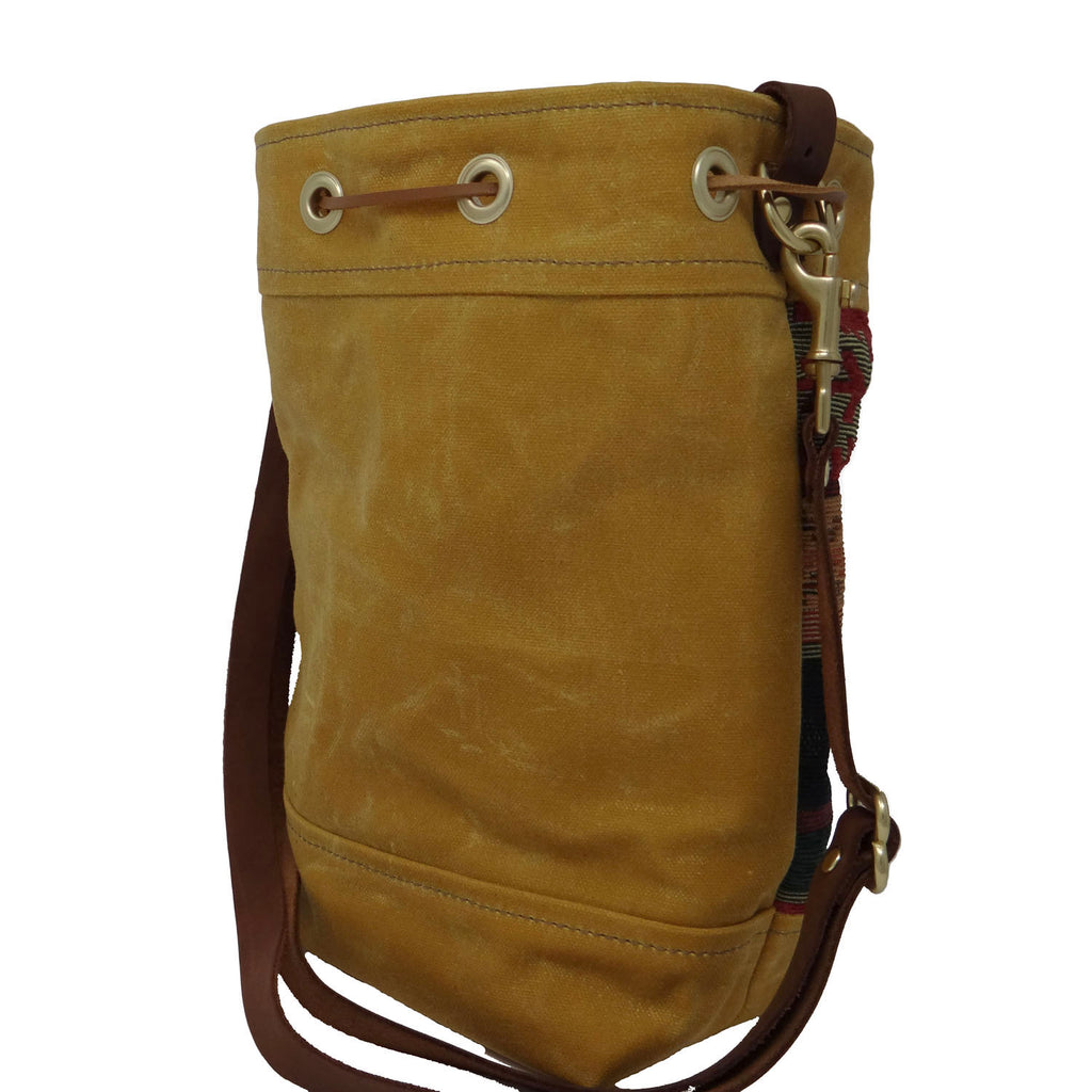 Wildwood Waxed Canvas Southwest Bucket Bag - Yellow Aztec