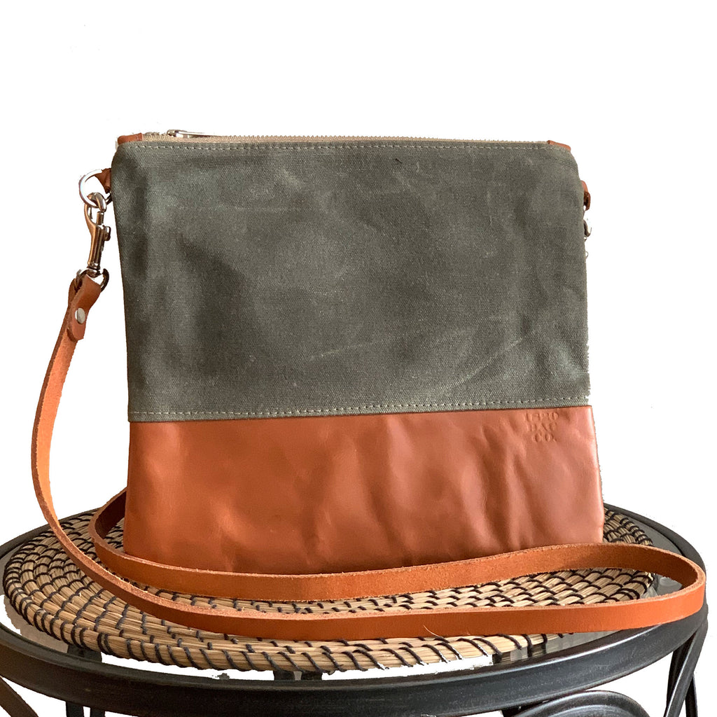 Sanibel Waxed Canvas & Leather Crossbody - 1820 Bag Co.