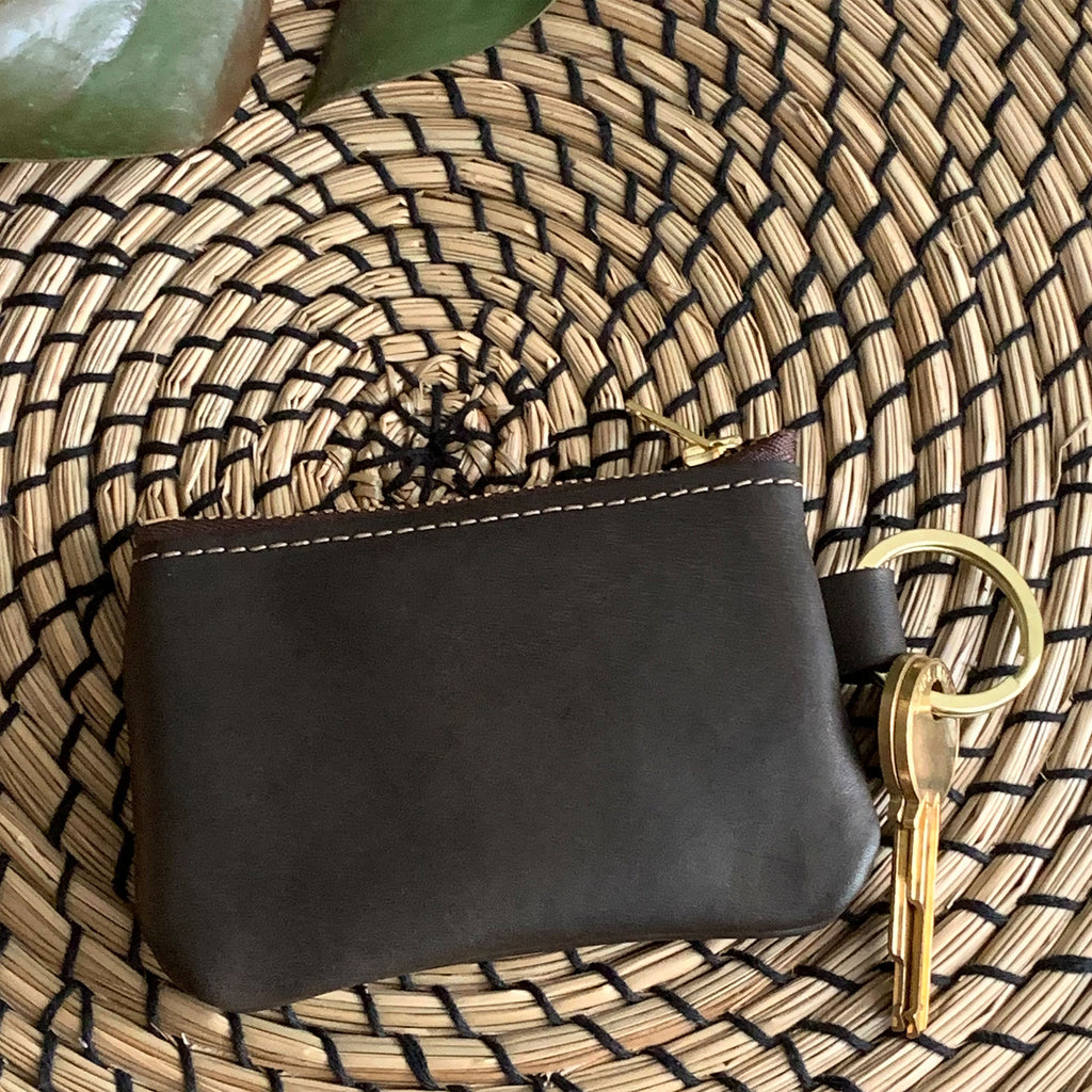 Naples Leather Key Chain Coin Purse