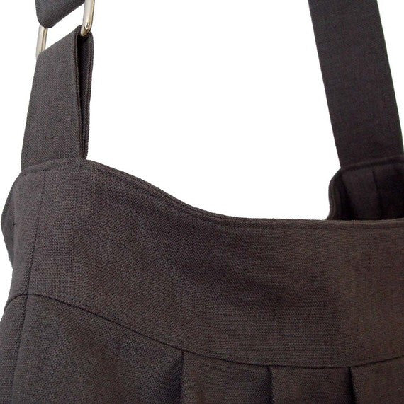 Gray European Linen Bag, Market Bag in Gray - 1820 Bag Co.