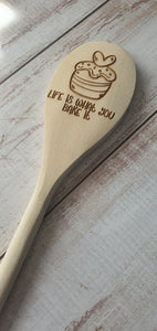 WOODEN SPOON WITH ENGRAVING